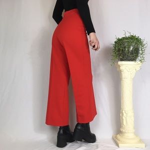 Vintage high waisted red trousers
